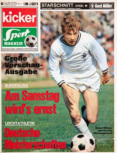 Kicker Sportmagazin Nr. 64, 11.8.1969 bis 17.8.1969