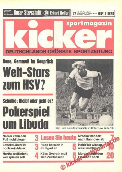Kicker Sportmagazin Nr. 37, 4.5.1972 bis 10.5.1972