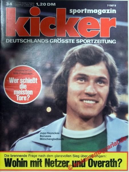 Kicker Sportmagazin Nr. 34, 22.4.1974 bis 28.4.1974