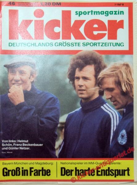 Kicker Sportmagazin Nr. 46, 4.6.1974 bis 10.6.1974