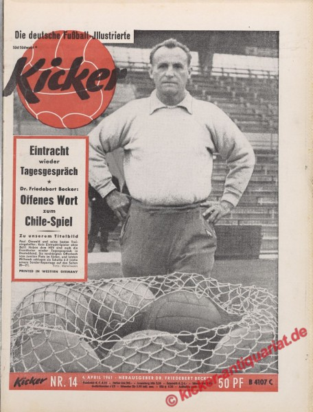 Kicker Nr. 14, 4.4.1961 bis 10.4.1961