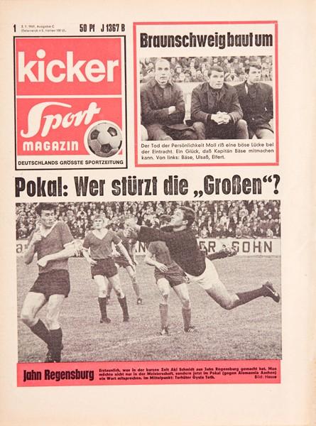 Kicker Sportmagazin Nr. 1, 2.1.1969 bis 8.1.1969