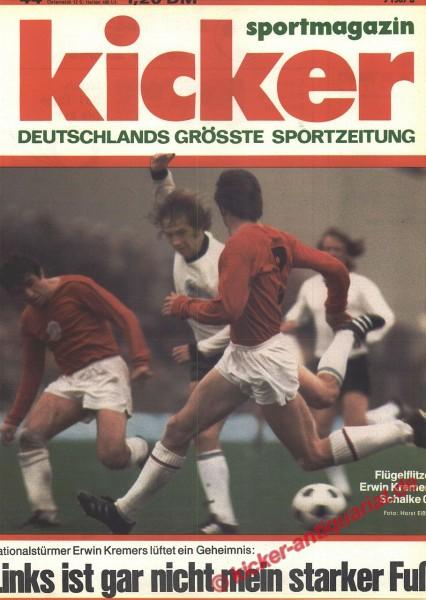 Kicker Sportmagazin Nr. 44, 28.5.1973 bis 3.6.1973