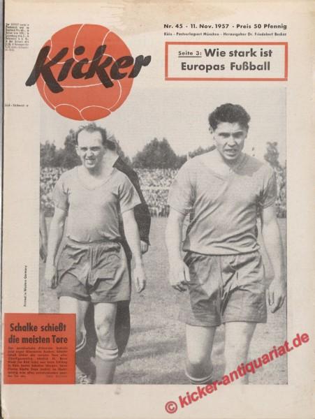 Kicker Nr. 45, 11.11.1957 bis 17.11.1957