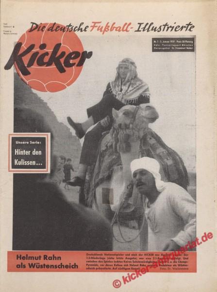Kicker Nr. 1, 5.1.1959 bis 11.1.1959