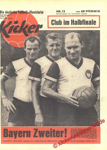Kicker Nr. 12, 25.3.1963 bis 31.3.1963