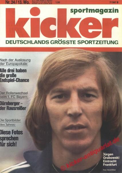 Kicker Sportmagazin Nr. 24, 22.3.1976 bis 28.3.1976