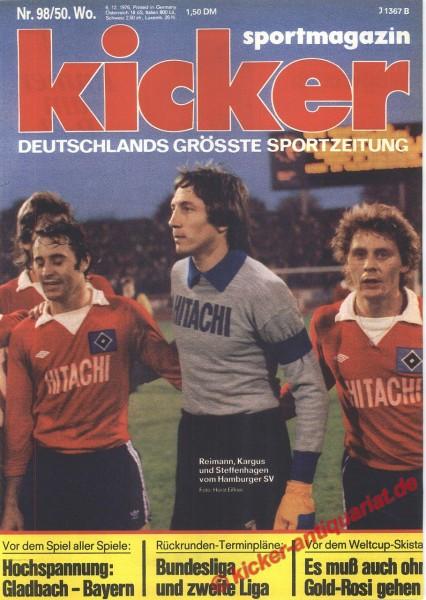 Kicker Sportmagazin Nr. 98, 6.12.1976 bis 12.12.1976