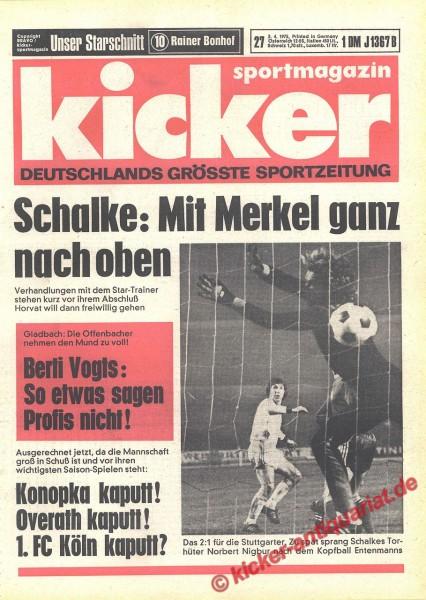 Kicker Sportmagazin Nr. 27, 3.4.1975 bis 9.4.1975
