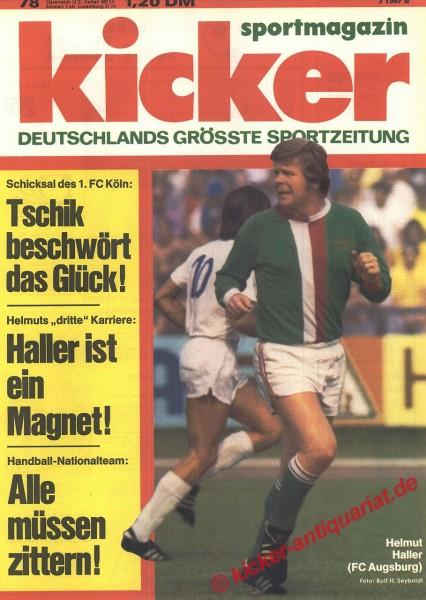 Kicker Sportmagazin Nr. 78, 24.9.1973 bis 30.9.1973