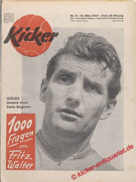 Kicker Nr. 11, 18.3.1957 bis 24.3.1957
