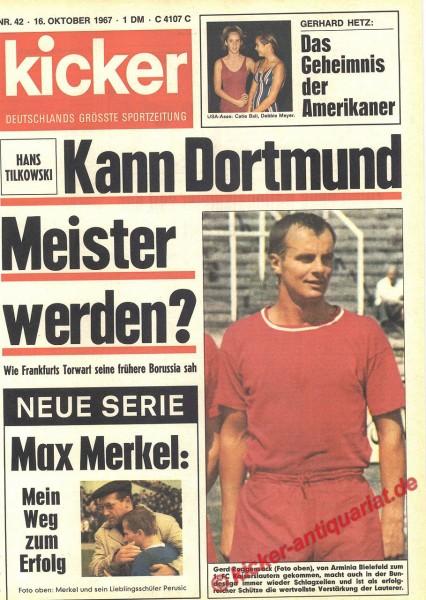 Kicker Sportmagazin Nr. 42, 16.10.1967 bis 22.10.1967