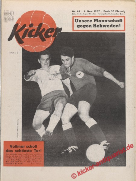 Kicker Nr. 44, 4.11.1957 bis 10.11.1957