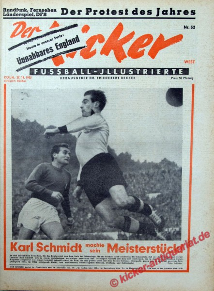 Kicker Nr. 52, 27.12.1955 bis 2.1.1956
