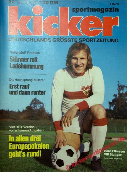 Kicker Sportmagazin Nr. 20, 4.3.1974 bis 10.3.1974