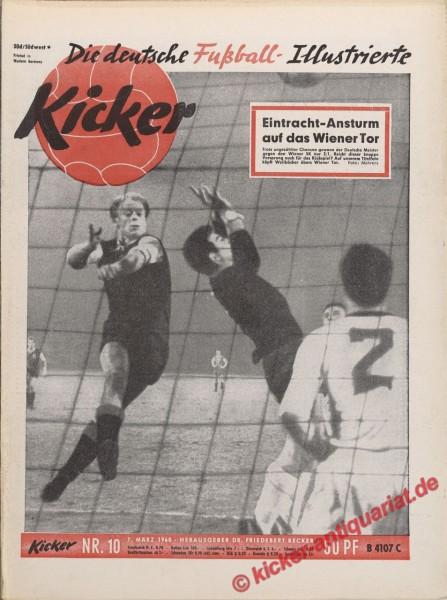 Kicker Nr. 10, 7.3.1960 bis 13.3.1960