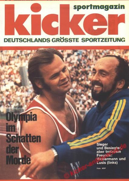 Kicker Sportmagazin Nr. 74, 11.9.1972 bis 17.9.1972