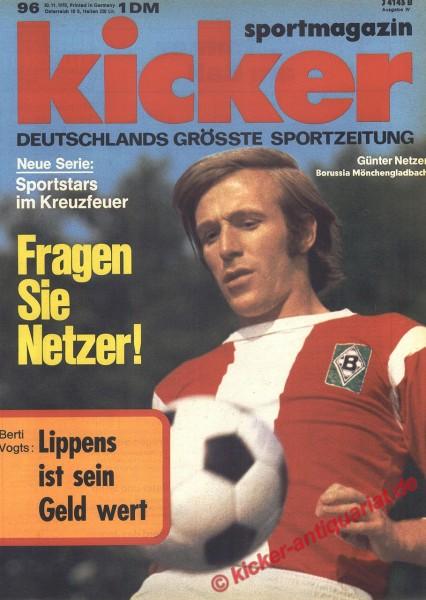 Kicker Sportmagazin Nr. 96, 30.11.1970 bis 6.12.1970