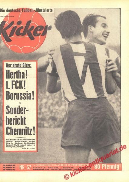 Kicker Nr. 37, 16.9.1963 bis 22.9.1963