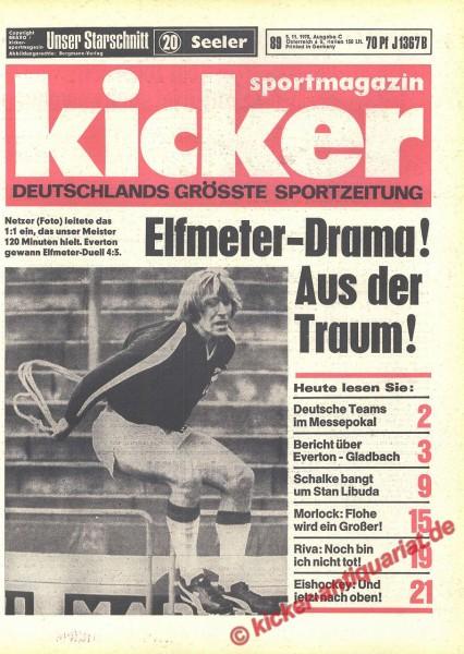 Kicker Sportmagazin Nr. 89, 5.11.1970 bis 11.11.1970