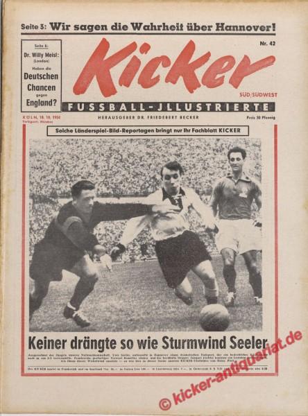 Kicker Nr. 42, 18.10.1954 bis 24.10.1954