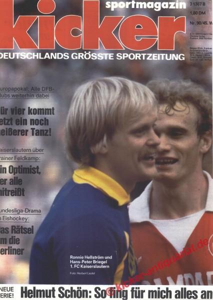 Kicker Sportmagazin Nr. 90, 6.11.1978 bis 12.11.1978