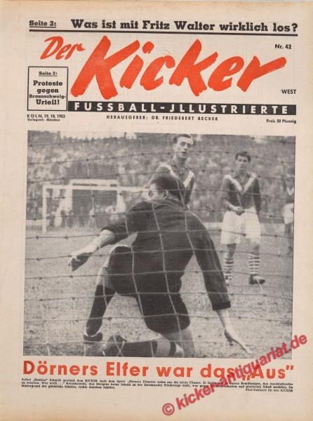 Kicker Nr. 42W, 19.10.1953 bis 25.10.1953