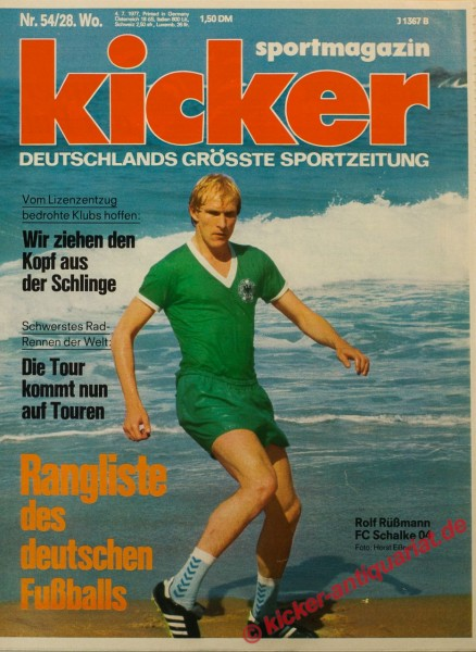 Kicker Sportmagazin Nr. 54, 4.7.1977 bis 10.7.1977