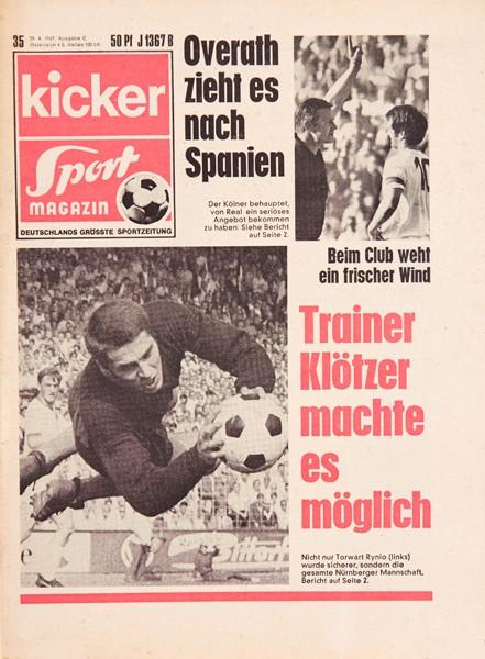 Kicker Sportmagazin Nr. 35, 30.4.1969 bis 6.5.1969