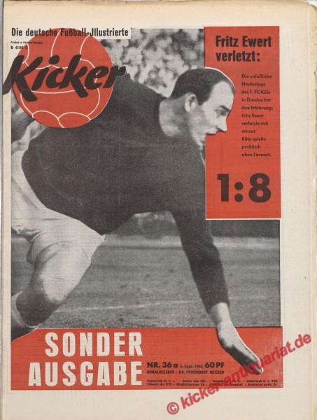 Kicker Nr. 36A, 6.9.1962 bis 12.9.1962