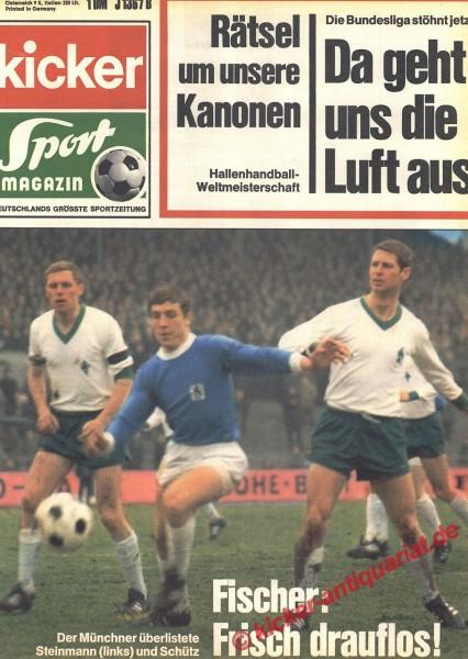 Kicker Sportmagazin Nr. 20, 9.3.1970 bis 15.3.1970