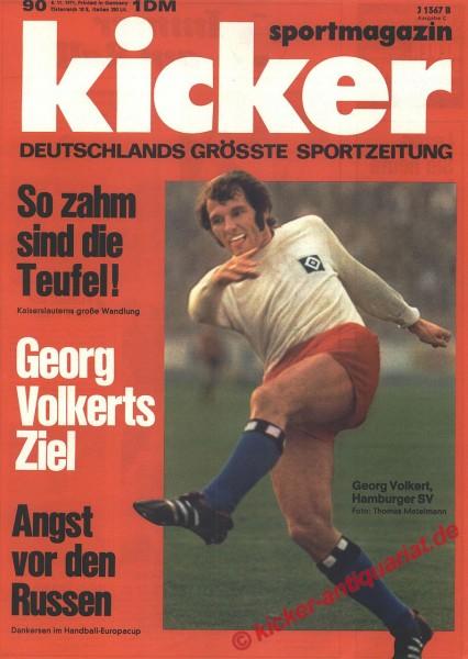 Kicker Sportmagazin Nr. 90, 8.11.1971 bis 14.11.1971