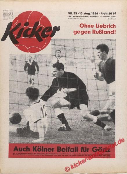 Kicker Nr. 33, 13.8.1956 bis 19.8.1956