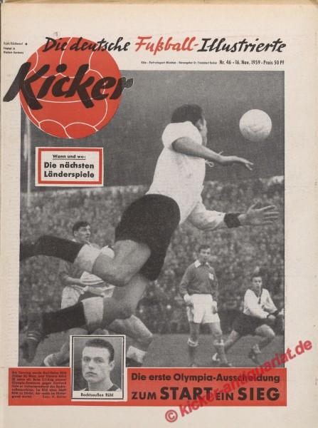 Kicker Nr. 46, 16.11.1959 bis 22.11.1959