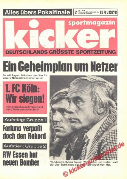 Kicker Sportmagazin Nr. 51, 21.6.1973 bis 27.6.1973