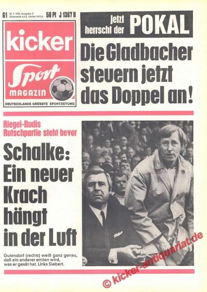 Kicker Sportmagazin Nr. 61, 30.7.1970 bis 5.8.1970