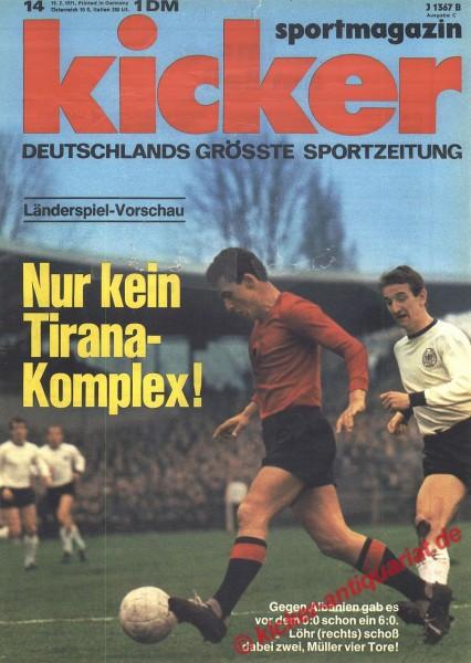 Kicker Sportmagazin Nr. 14, 15.2.1971 bis 21.2.1971