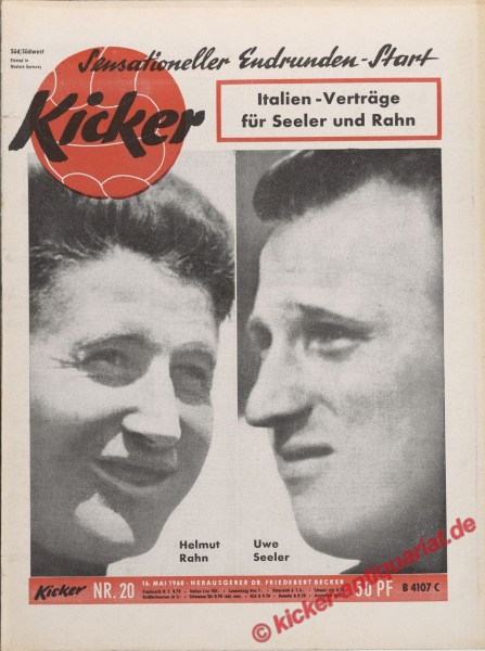 Kicker Nr. 20, 16.5.1960 bis 22.5.1960