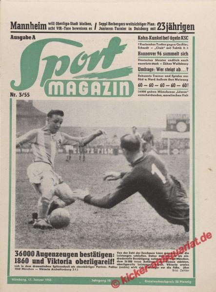 Sportmagazin Nr. 3A, 17.1.1955 bis 23.1.1955