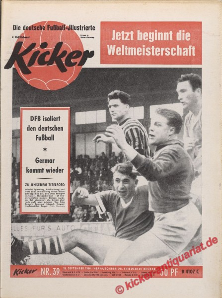 Kicker Nr. 39, 26.9.1960 bis 2.10.1960