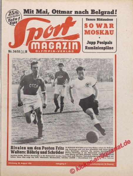 Sportmagazin Nr. 34B, 25.8.1955 bis 31.8.1955