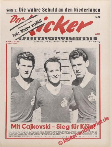 Kicker Nr. 40, 3.10.1955 bis 9.10.1955
