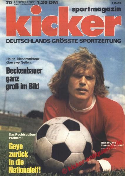 Kicker Sportmagazin Nr. 70, 27.8.1973 bis 2.9.1973