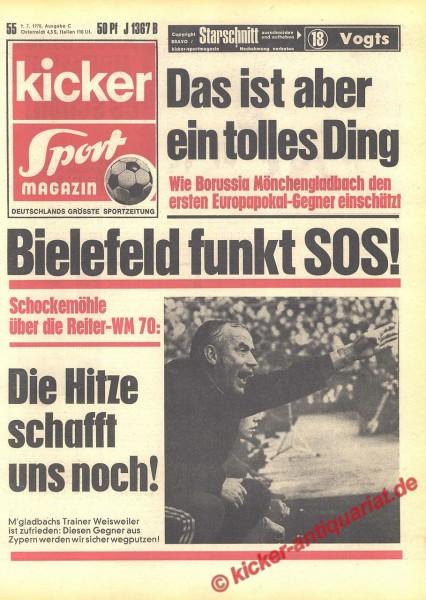 Kicker Sportmagazin Nr. 55, 9.7.1970 bis 15.7.1970