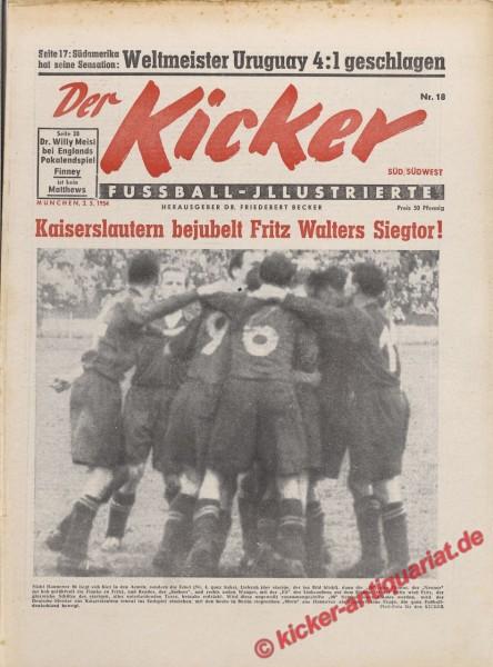 Kicker Nr. 18, 3.5.1954 bis 9.5.1954