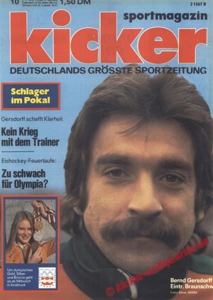 Kicker Sportmagazin Nr. 10, 2.2.1976 bis 8.2.1976