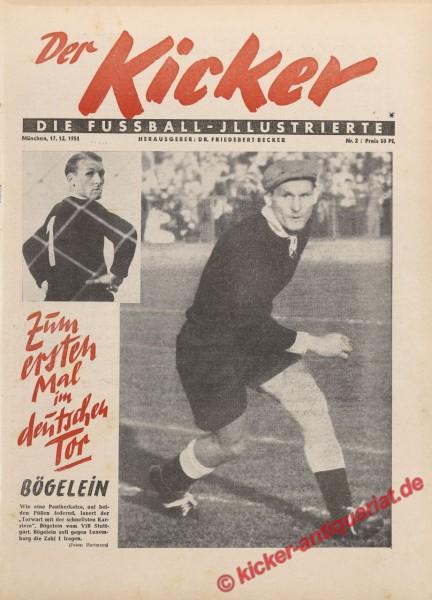Kicker Nr. 2, 12.12.1951 bis 18.12.1951