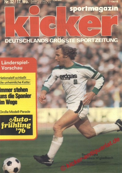 Kicker Sportmagazin Nr. 32, 20.4.1976 bis 26.4.1976