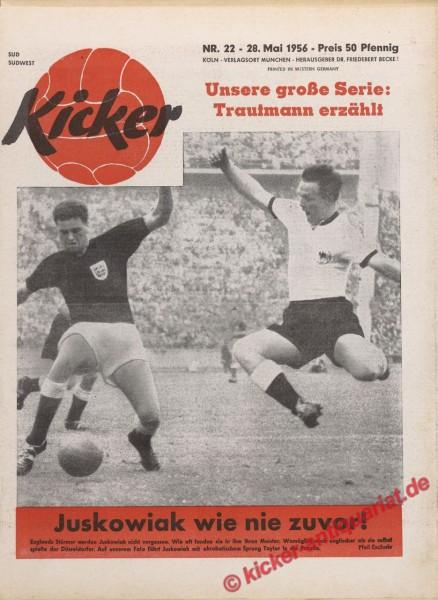 Kicker Nr. 22, 28.5.1956 bis 3.6.1956