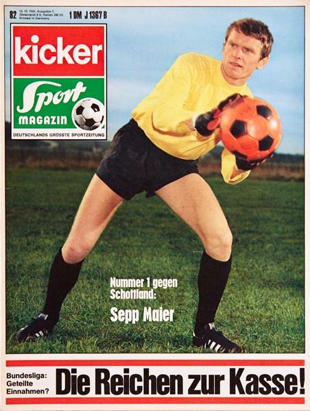 Kicker Sportmagazin Nr. 82, 13.10.1969 bis 19.10.1969